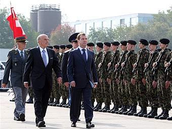 Дмитрий Медведев во время визита в Швейцарию. Фото ©AFP